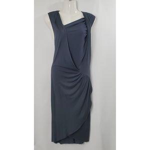Helmut Lang Silk Jersey Draped Dress